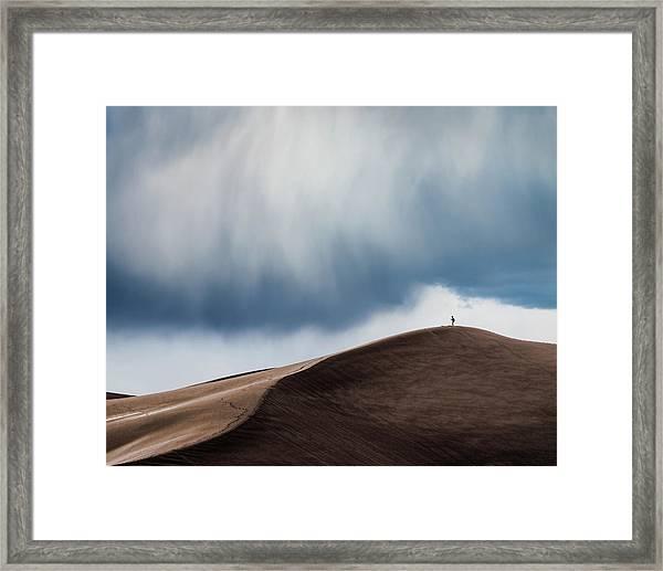 Storm Chaser Framed Print by John Fan