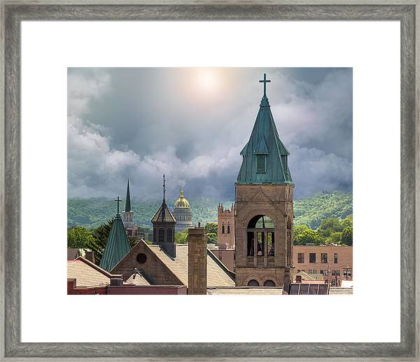 Storm Clouds In Charleston Wv Framed Print