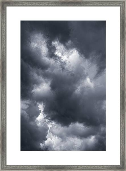 Storm Clouds Over Taos, New Mexico, Usa Framed Print