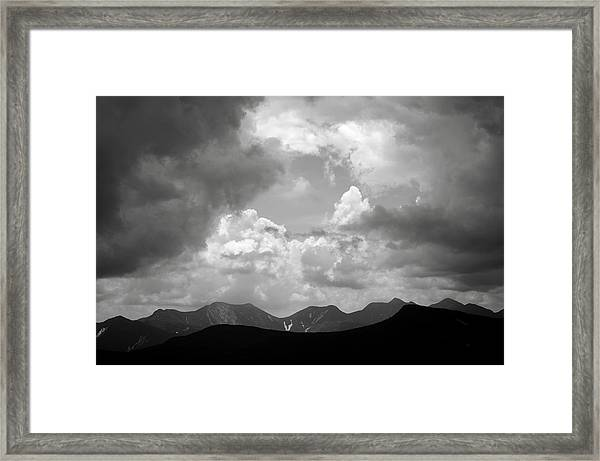Storm Clouds Over The Great Range Framed Print