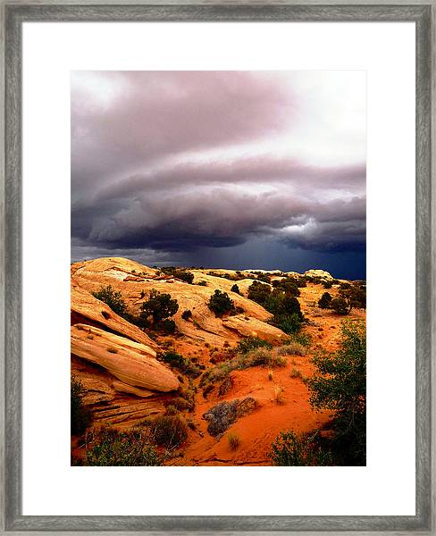 Storm In The Desert Framed Print
