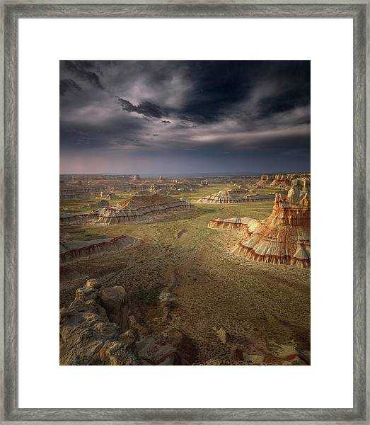 Storm In The Distance Framed Print by Greg Barsh