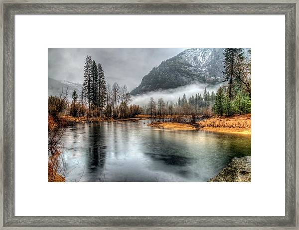 Storm In Yosemite Framed Print