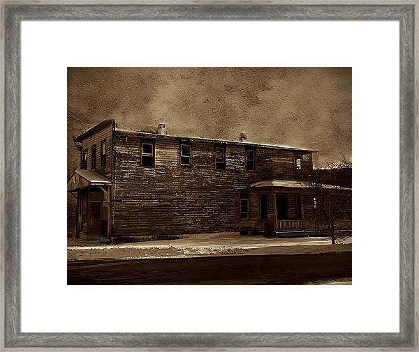 Framed Print featuring the photograph Storm Of 1888 by David Dehner