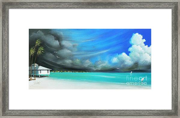 Storm On The Move Framed Print