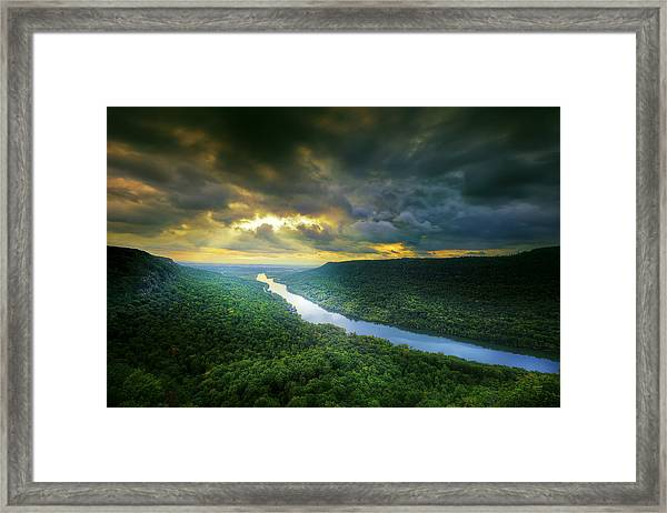 Storm Over Edwards Point Framed Print