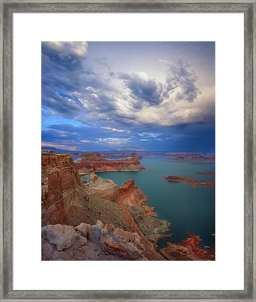 Storm Over Lake Powell Framed Print
