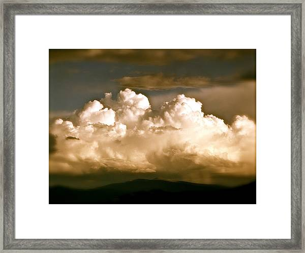 Storm Over Truchas Framed Print