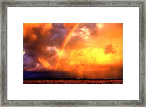Storm Over The Flinders Ranges Framed Print