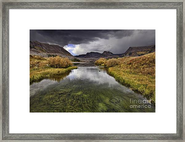 Storm Over Trappers Lake Framed Print