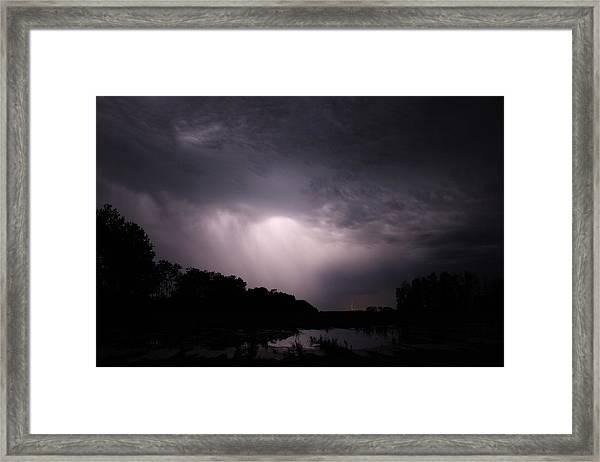 Storm Over Wroxton Framed Print