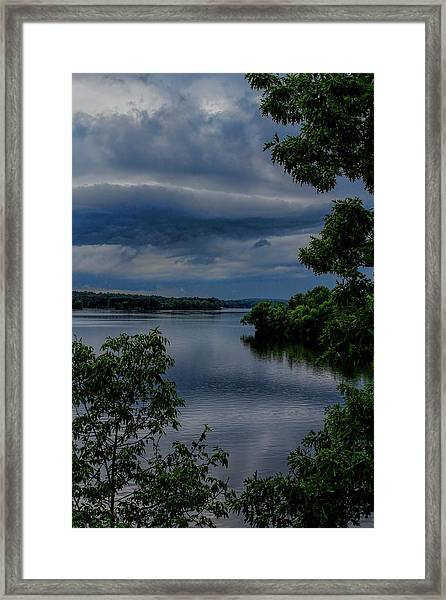 Storm Rolling Over Lake Wausau Framed Print