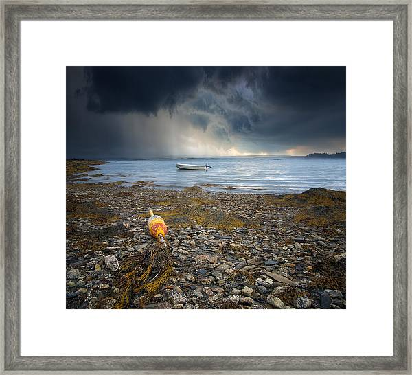 Storm Rolls In Framed Print