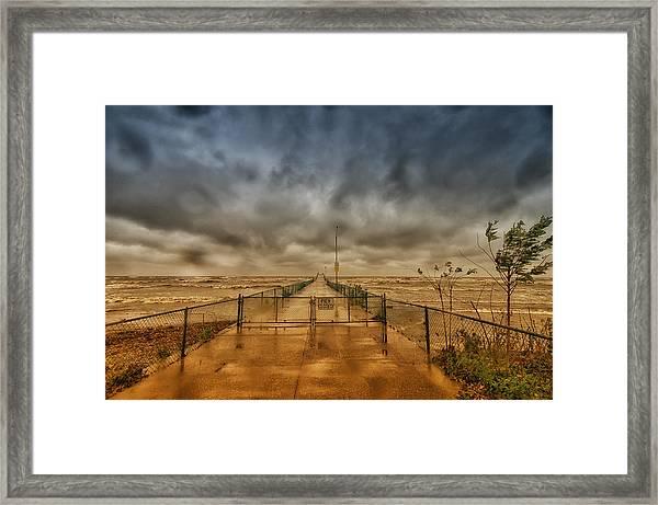 Storm Sandy At Bradstreet Landing Framed Print