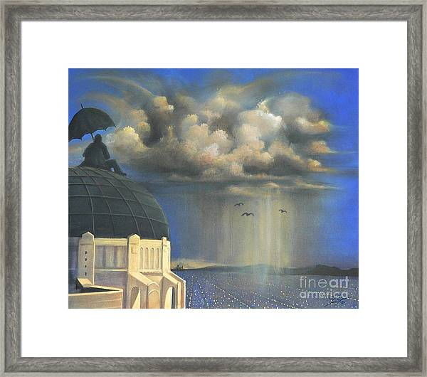 Storm Watch At Griffith's Framed Print