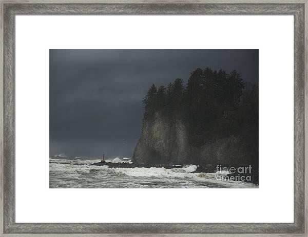 Storm At Lapush Washington State Framed Print
