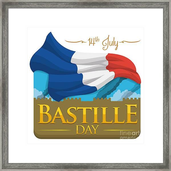Storming Of The Bastille Representation Framed Print