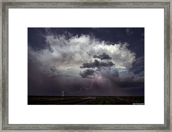 Storming The South Framed Print