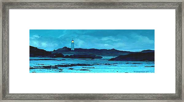 Storm's Brewing Framed Print