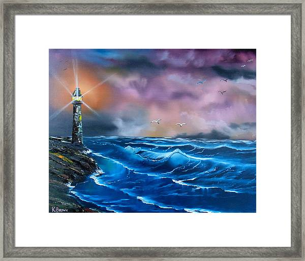 Storms Rolling In Framed Print