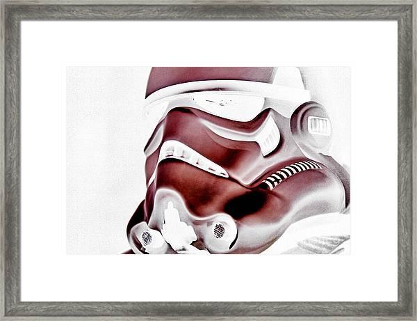 Stormtrooper Helmet 23 Framed Print by Micah May
