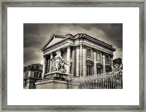 Stormy Afternoon At Versailles Framed Print