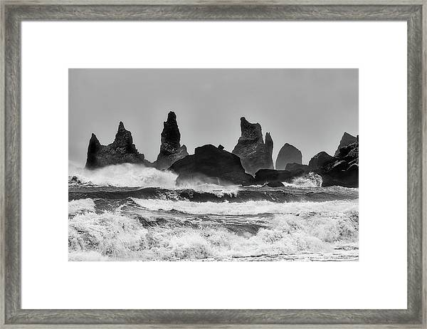 Stormy Beach Framed Print by Alfred Forns