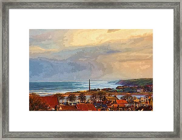 Stormy Day At Berwick - Photo Art Framed Print