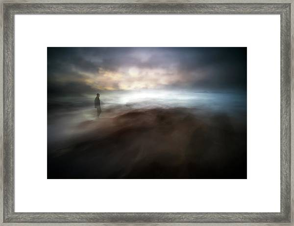 Stormy Days In Nowhere Framed Print