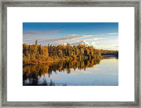 Stormy Lake Alaska In Autumn Framed Print