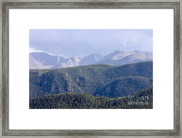 Stormy Pikes Peak Framed Print