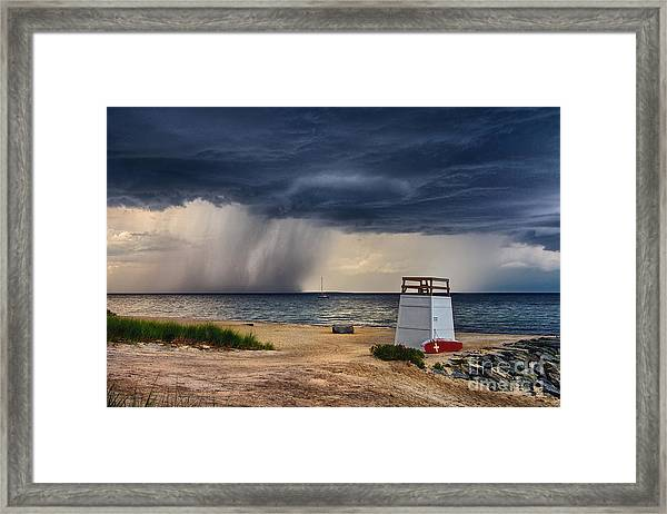 Stormy Seashore Framed Print