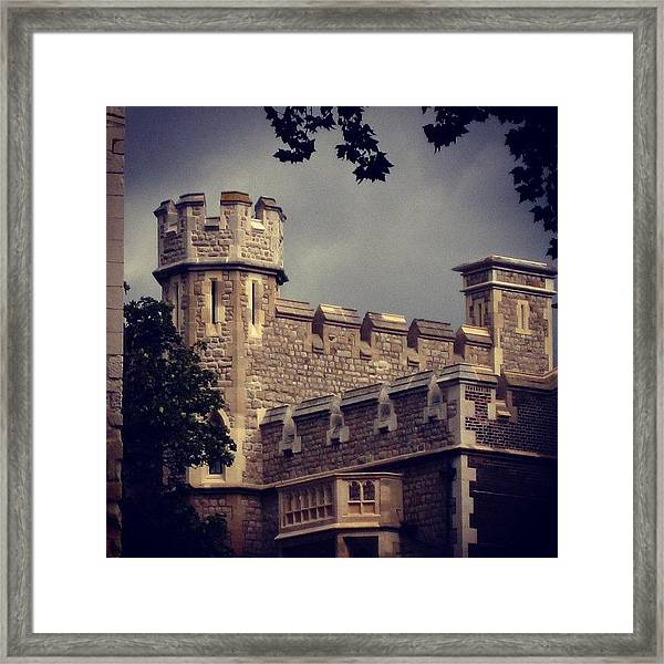 Stormy Skies Over The Tower Of London Framed Print