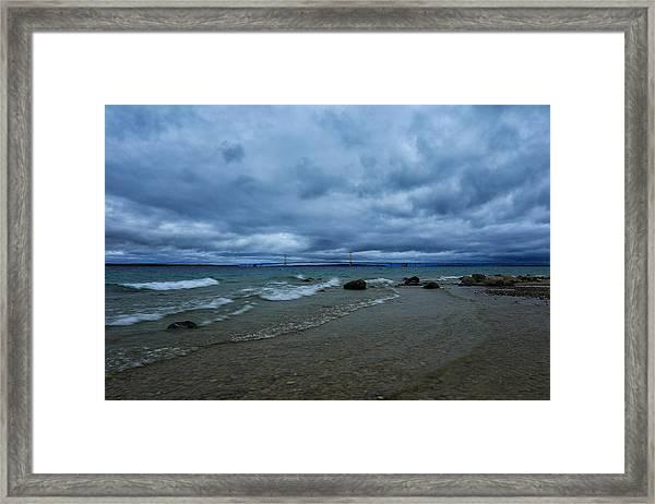 Stormy Straits Framed Print