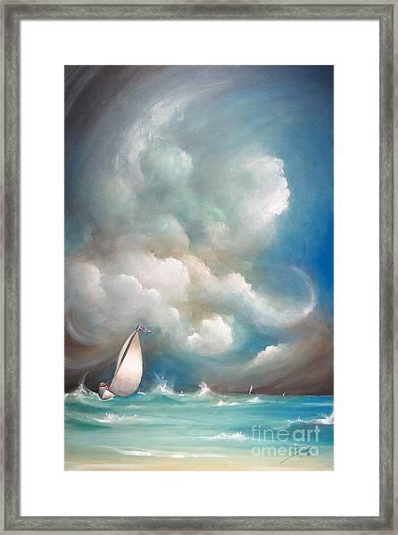 Stormy Sunday Framed Print