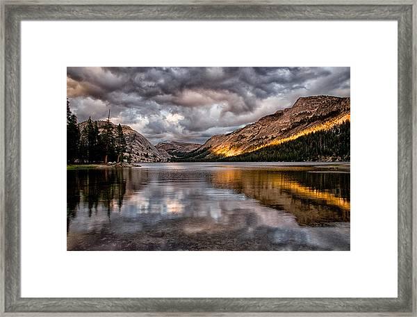Stormy Sunset At Tenaya Framed Print