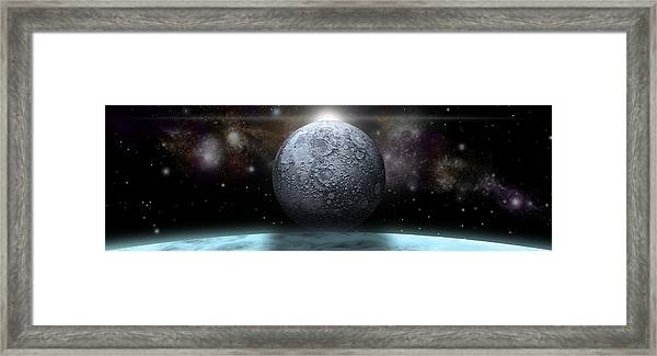Stormy World Pano Framed Print