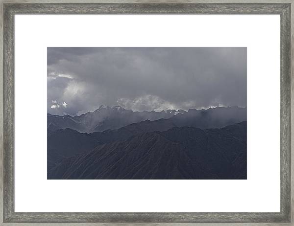 Storm Over The Andes Framed Print