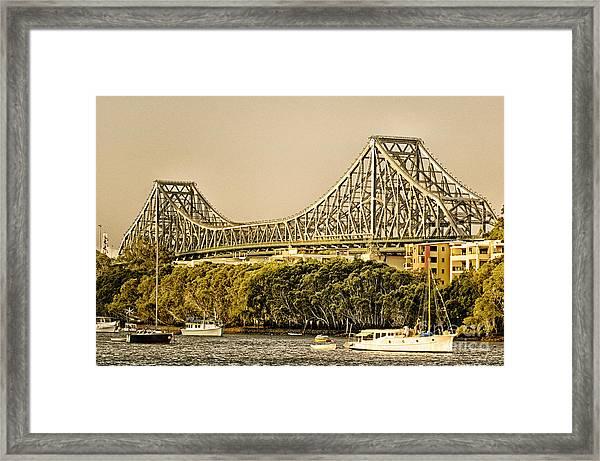 Story Bridge - Icon Of Brisbane Australia Framed Print
