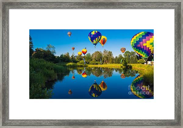 Stoweflake Hot Air Balloon Festival Framed Print