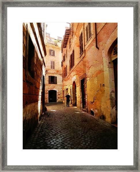 Strade Di Ciottoli Framed Print