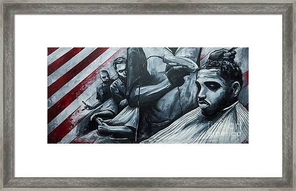 Straight Cutttin Framed Print