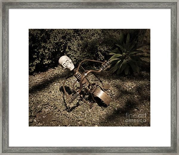 Strange Skull Framed Print