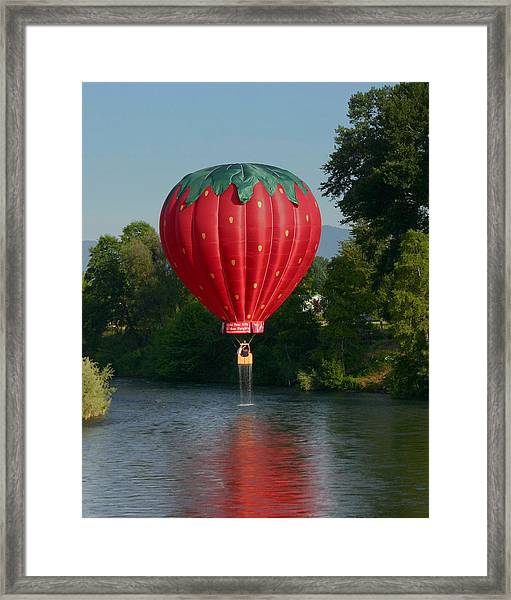 Strawberry Dripped Framed Print