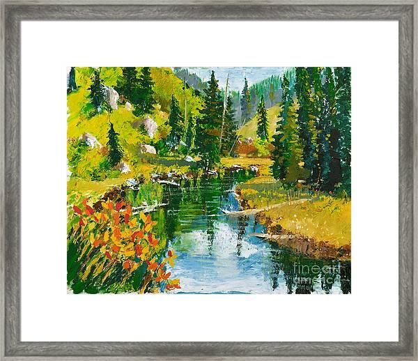 Strawberry Reservoir Framed Print