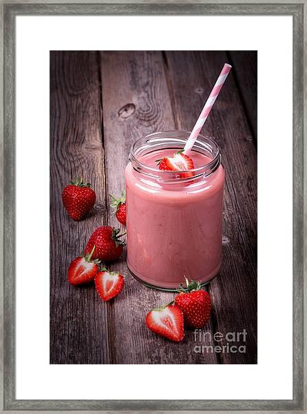 Strawberry Smoothie Framed Print