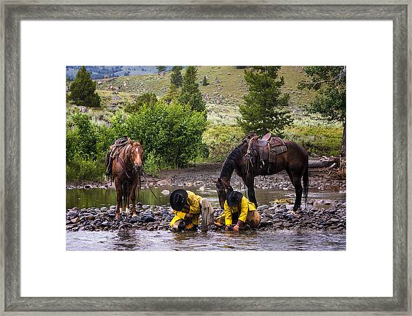 Streamside Framed Print