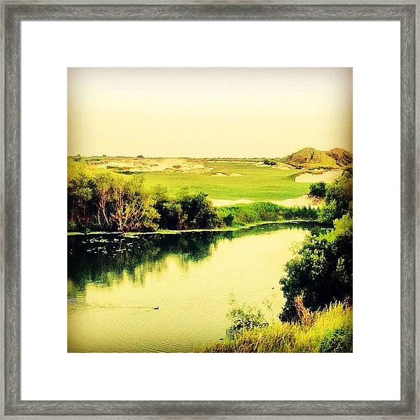 Streamsong #golf #iphone5 #instagram Framed Print