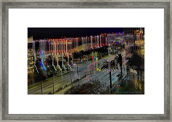 Framed Print featuring the digital art Street Art II by Visual Artist Frank Bonilla