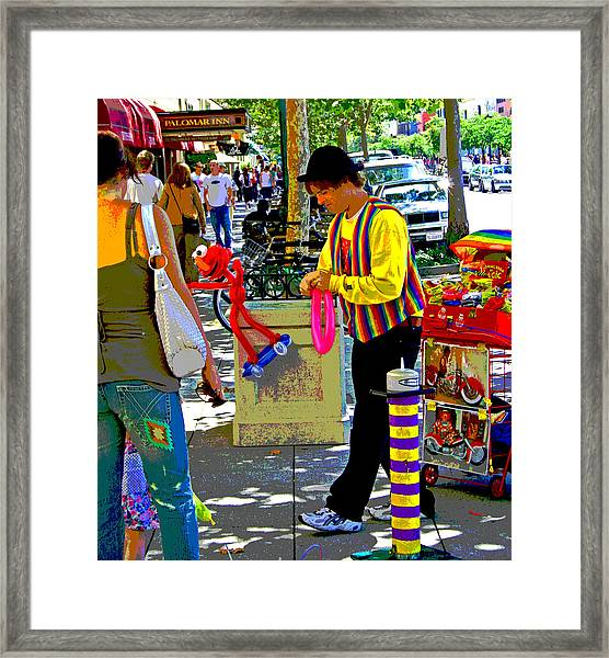 Street Balloon Art Framed Print